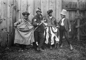 RURAL CHILDREN, c1895. A group of African American children posing in playclothes