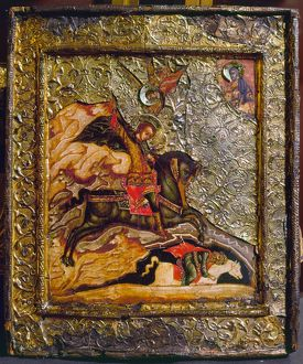 angels/russian icon demetrius saint demetrius slaying