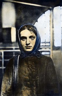 RUSSIAN JEWISH IMMIGRANT. A young Russian Jewish woman photographed by Lewis Hine