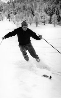 Russian Olympic cross-country skier. Anikin at the 1960 Winter Olympics in Squaw Valley
