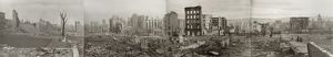 SAN FRANCISCO EARTHQUAKE. Panoramic view of the burned district from Jones and Bush