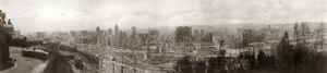SAN FRANCISCO EARTHQUAKE. Panoramic view of the ruins from Hopkins Institute, following