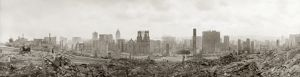 SAN FRANCISCO EARTHQUAKE. Panoramic view of the ruins from Nob Hill, following the