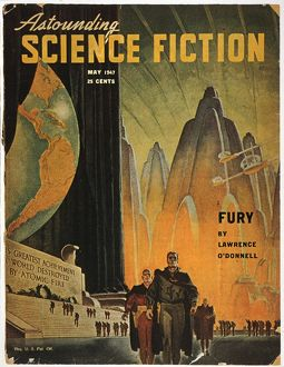 SCIENCE FICTION MAGAZINE. Cover by Hubert Rogers for the May 1947 issue of 'Astounding