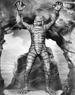 SEA MONSTER, 1953. Ricou Browning in 'The Creature from the Black Lagoon,' 1953.