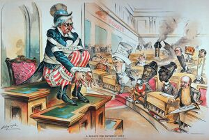 'A Senate for Revenue Only.' American cartoon by Louis Dalrymple, 1894, of