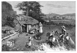 SETTLERS, 1880. 'The Settler's First Home in the Far West