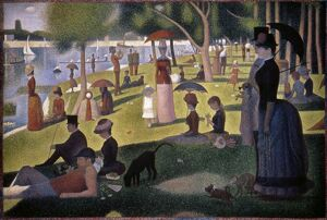 SEURAT: GRANDE JATTE, 1886. 'A Sunday Afternoon on the Island of La Grande Jatte