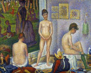 SEURAT: MODELS, c1866. 'The Models.' Oil on canvas, c1866-8, by Georges Seurat