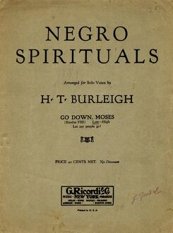 SHEET MUSIC: SPIRITUAL. Sheet music cover for the African American spiritual 'Go