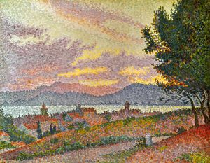SIGNAC: ST TROPEZ, 1896. Paul Signac: View of St Tropez. Oil on canvas, 1896.