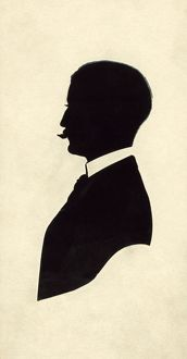 SILHOUETTE: MAN, c1910. Silhouette of a man. Cut paper silhouette by A.P. Shield, c1910