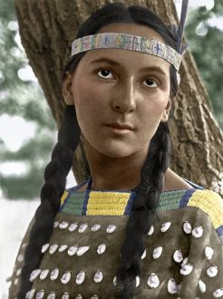 SIOUX WOMAN, c1907. Portrait of Lucille, a Sioux woman. Photographed by Edward S