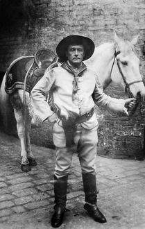 SIR GENILLE CAVE BROWN CAVE (1869-1929). English cowboy, bartender and 12th baronet