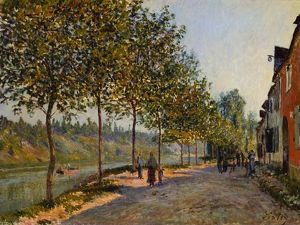 SISLEY: JUNE MORNING, 1884. 'June Morning in Saint-Mammes.' Oil on canvas