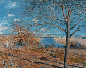 SISLEY: THE LOING, 1881. 'Banks of the Loing - Autumn Effect.' Oil on canvas