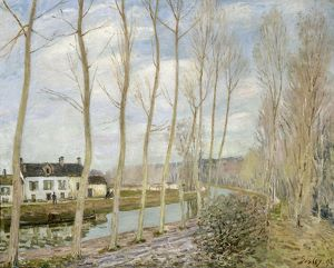 SISLEY: THE LOING'S CANAL. Oil on canvas, Alfred Sisley, 1892