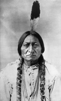 SITTING BULL (1834-1890). Sioux Native American leader. Photographed by David F. Barry
