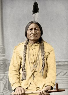 digitally colorized/sitting bull c1831 1890 sioux native american