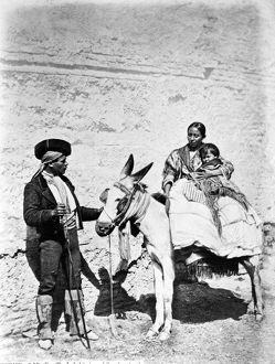 SPAIN: GYPSIES, c1860-80. A Gypsy family in Spain. Photographed c1860-80