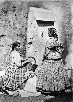 SPAIN: GYPSIES, c1860-80. Two Gypsy women of Spain. Photographed c1860-1880