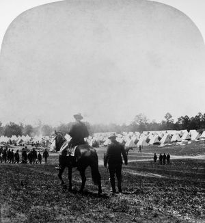 SPANISH-AMERICAN WAR, c1899. An American army camp during the Spanish-American War