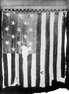 THE STAR SPANGLED BANNER. The 15-star American flag that flew over Fort McHenry