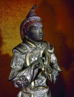 Statue of the guardian Sakara. Painted lacquer, Japanese, c734 A.D.