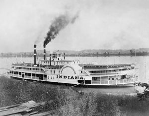 STEAMBOAT, c1910. The commercial navigation packet 'Indiana,' built early in the