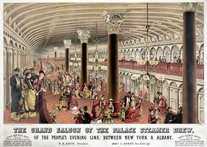 STEAMER SHIP BALLROOM. 'The Grand Saloon of the Palace Steamer Drew