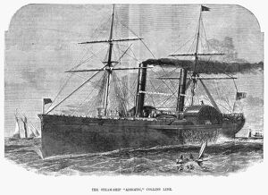 STEAMSHIP: ADRIATIC. The 'Adriatic,' an American steamship with the Collins