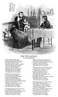 STODDARD: THE TWO ANCHORS. An illustrated poem, 'The Two Anchors,' by Richard