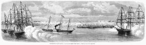 SUEZ CANAL: INAUGURATION. The French ship 'Aigle,' carrying the French Empress