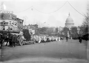 SUFFRAGE PARADE, 1913. A suffrage parade in Washington, D.C. Photograph, March 1913
