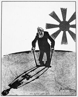 'The Sun is Rising.' Cartoon featuring Franklin Delano Roosevelt, shortly