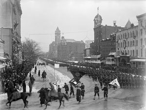 TAFT INAUGURATION, 1909. Parade in Washington, D