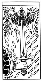 TAROT CARD: ACE OF SWORDS. 'The Ace of Swords (Struggle)
