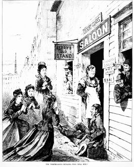 bars taverns saloons/the temperance crusade who win cartoon american