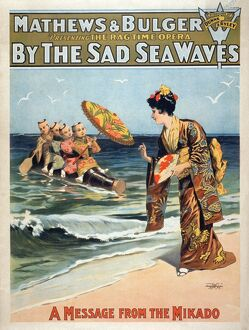 beach/theater poster c1898 american lithographic poster