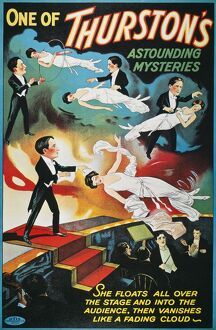 THURSTON: POSTER, 1935. American poster of magician Howard Thurston performing his