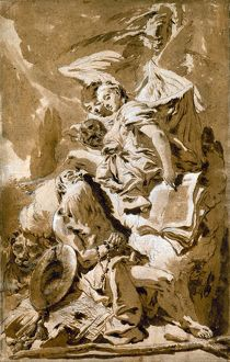 TIEPOLO: SAINT JEROME. /n'Saint Jerome in the Desert Listening to the Angels