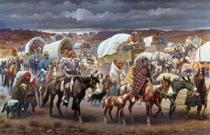THE TRAIL OF TEARS, 1838. The removal of the Cherokee Native Americans to the West in 1838