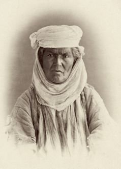TURKESTAN: DZHUGI, c1871. Dzhugi woman of Turkestan. Photographed c1871-1872