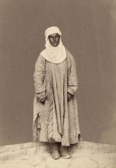 TURKESTAN: MAZANG, c1865. Portrait of a Mazang woman of Turkestan