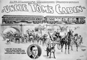 UNCLE TOM'S CABIN, 1898. An 1898 poster of a theatrical touring company production