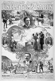 UNCLE TOM'S CABIN, c1899. Lithograph poster, c1899, for Al W