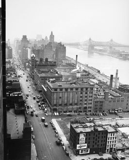 UNITED NATIONS: SITE, 1946. View, looking north from 41st Street, of the site of