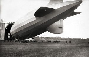 U.S. AIRSHIP, 1920s. The USS Los Angeles (constructed at the Zeppelin factory in Germany)