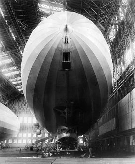 U.S. AIRSHIP, 1924. The U.S. airship 'Los Angeles' (the German LZ-126 constructed