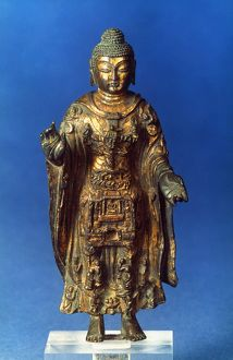 The Vairocana Buddha. Gilt bronze, China or Central Asia.